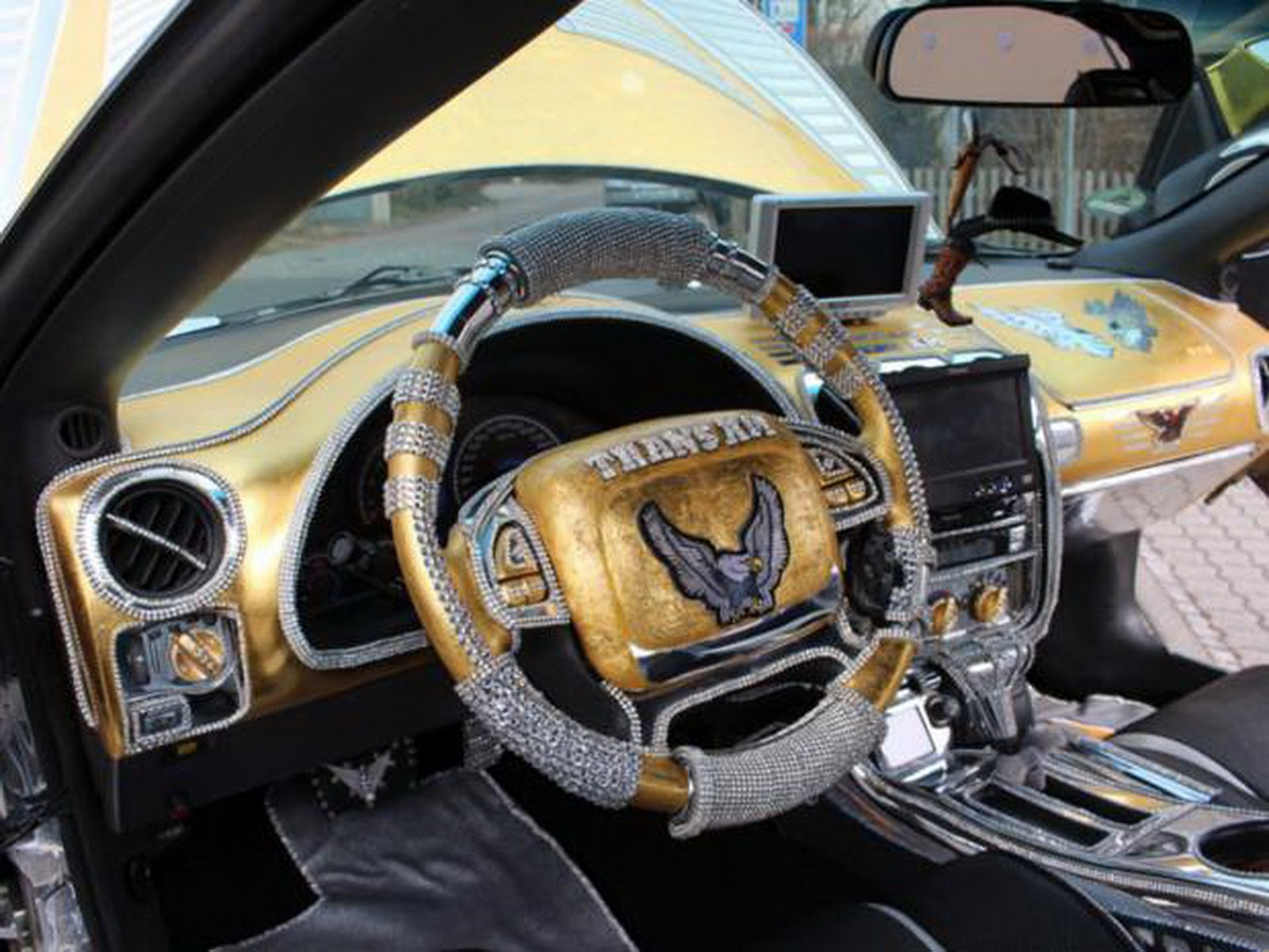 Using Gold Leaf Car Emblem