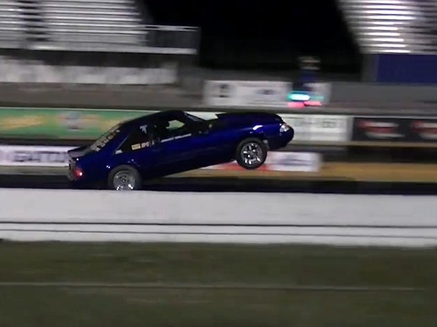 The American Powertrain Starting Shift: Mustang Driver Dumps The Clutch, Yanks The Front End And Shifts Second In The Air!