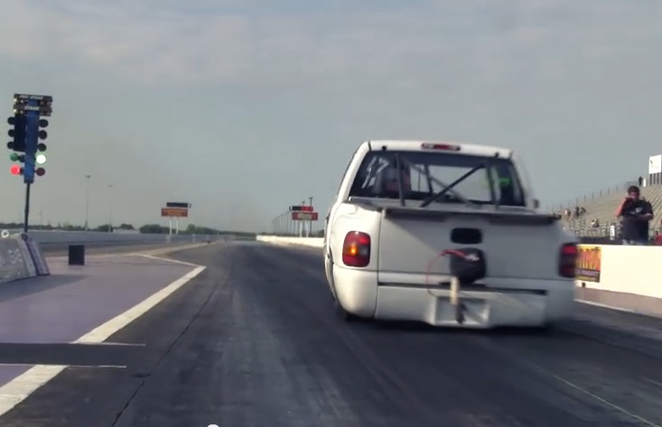 Behemoth: Watch This Full Sized Chevy Truck Run 7.70s At 170mph Plus With A Twin Turbo LS Engine – World's Quickest?