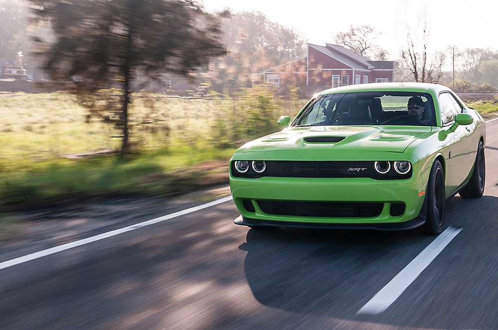 The Green Needle: Four Days With A 2015 Challenger Hellcat Has Us Addicted To 700hp Blown Hemi Fun