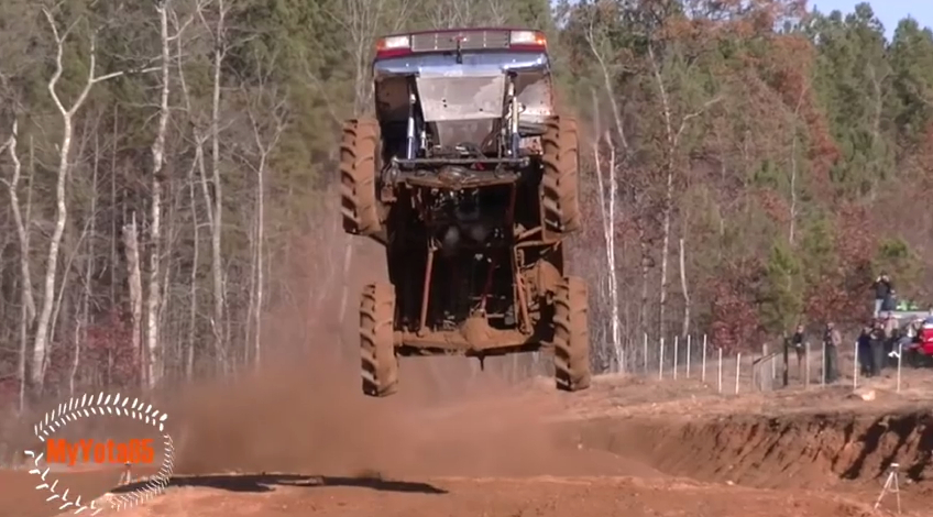 Video: Huge Mud Truck Giant Jump, Front Flip, Crushed It All, Awesomeness!