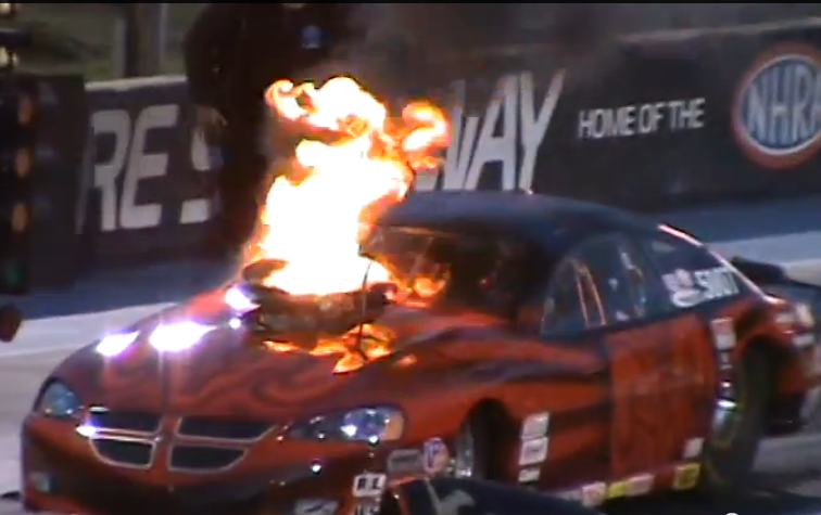 KABOOM! A Pair Of Starting Line Manifold Explosions That Got Everyone's Attention