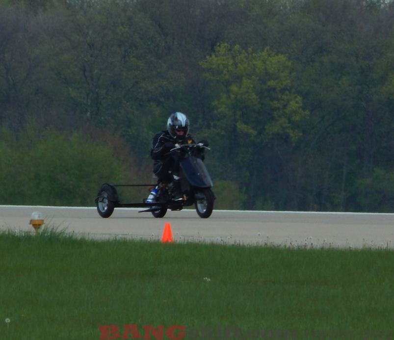 """Best of BangShift 2015: A Live Interview As An ECTA Racer """"Speeds"""" Down The Track On A 50cc Sidecar Motorcycle"""