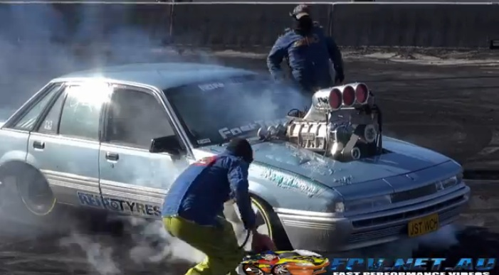Watch A Crazy Aussie Burnout End With An Invisible Methanol Fire – Bubbling Paint Is The Only Tell Tale