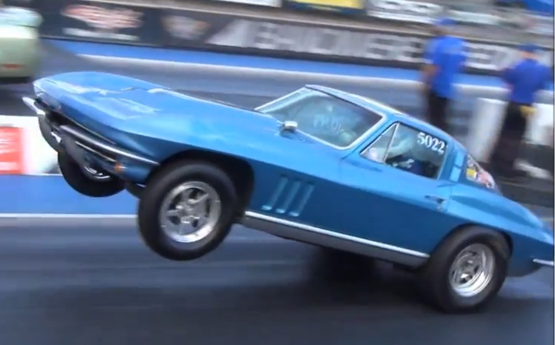 The American Powertrain Parting Shift: Four Speed, Small Block, 1965 Corvette Run 10s In The Altitude At Bandimere,  Wheels Up