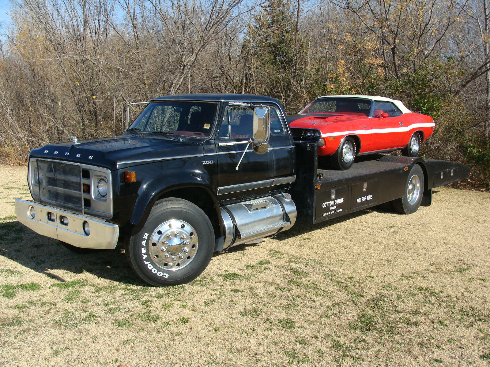 Old Ramp Trucks For Sale >> BangShift.com This 1977 Dodge D700 Ramp Truck Is A Knockout! Big Block Power, Built By Cotton ...