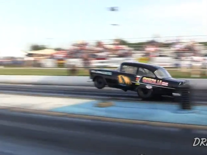Watch One Of The Most Historically Significant 1955 Chevys In Drag Racing History Make A Rip At Thompson Raceway Park