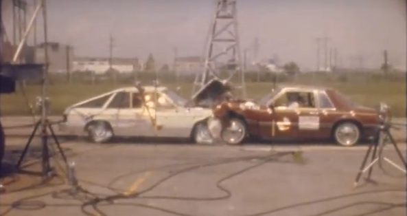 Historical Footage: Head-To-Head Crash Testing A 1982 Mustang Vs. A 1982 Plymouth TC3