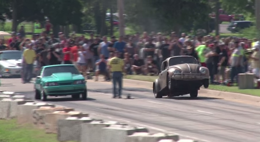 Wheelstand Wednesday! Street Outlaws AZN Drags The Bumper On Dung Beetle