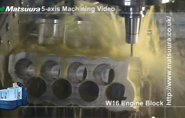 Gearhead Hypnosis: Watch A Cube Of Aluminum Get Machined Into The Block For A W16 Engine