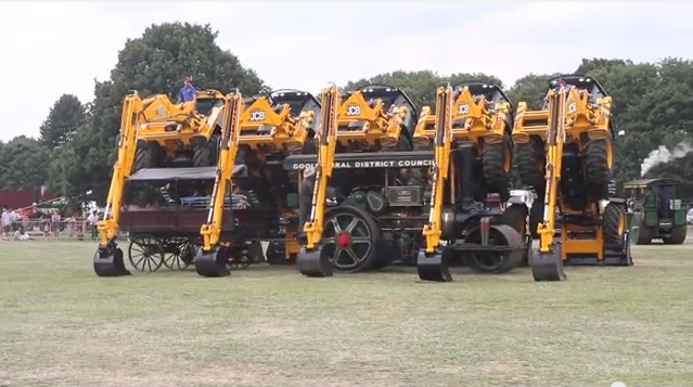 The Dancing Farmers: Dancing JCB Tractors On Display In Wales