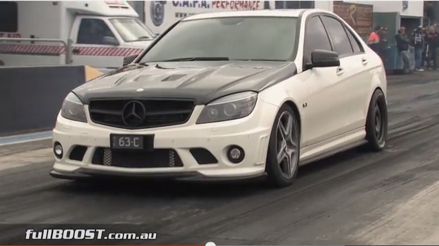 This Mercedes C63 Is A Ten-Second Stomper With A Bellowing Exhaust Note