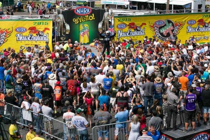2015 NHRA New England Nationals at New England Dragway in Epping, NH