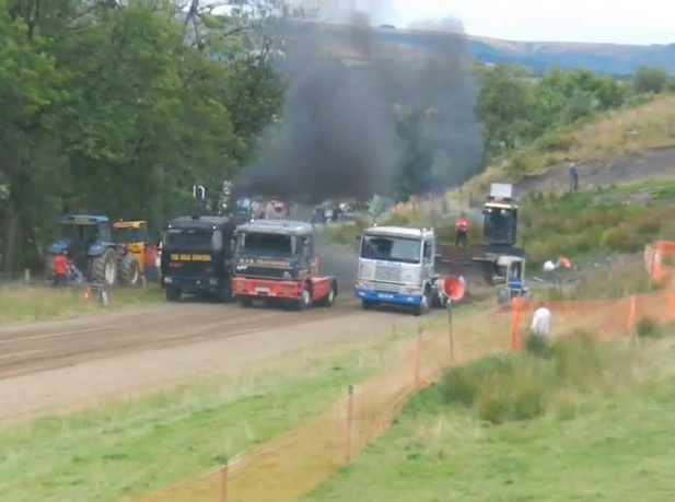 Three Big Rigs, One Pulling Course, And A Drag Race We'd Pay A Nickel To Watch Again and Again