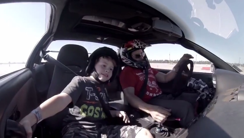 Watch This Kid Get The Crap Scared Out Of Him On A Drift Course