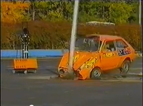 Historical Footage: Have You Ever Wondered What Would Happen If You Crashed A 1970s-era Fiesta Into A Lightpole?