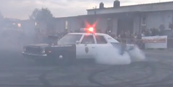 Here's Footage Of The Tunnel-Rammed Gran Fury Cop Car Getting Wild During Lahti Cruising