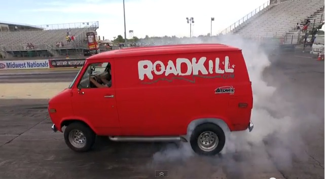 Lessons On Preparing Your Rear End And Gratuitous Van Burnouts, Courtesy Of Hot Rod Garage!