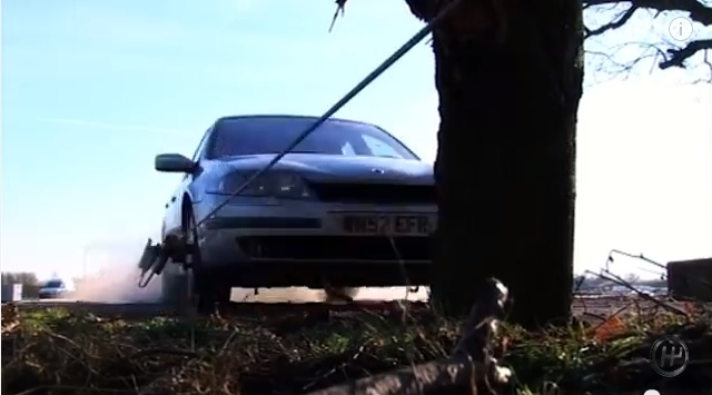 What Does It Look Like When A Car Is Sent Into A Tree At 55 Miles An Hour? Simply Put, Bad.