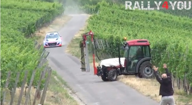 Classic YouTube: Watch As Theirry Neuville's Rally Practice Gets Interrupted By A Tractor