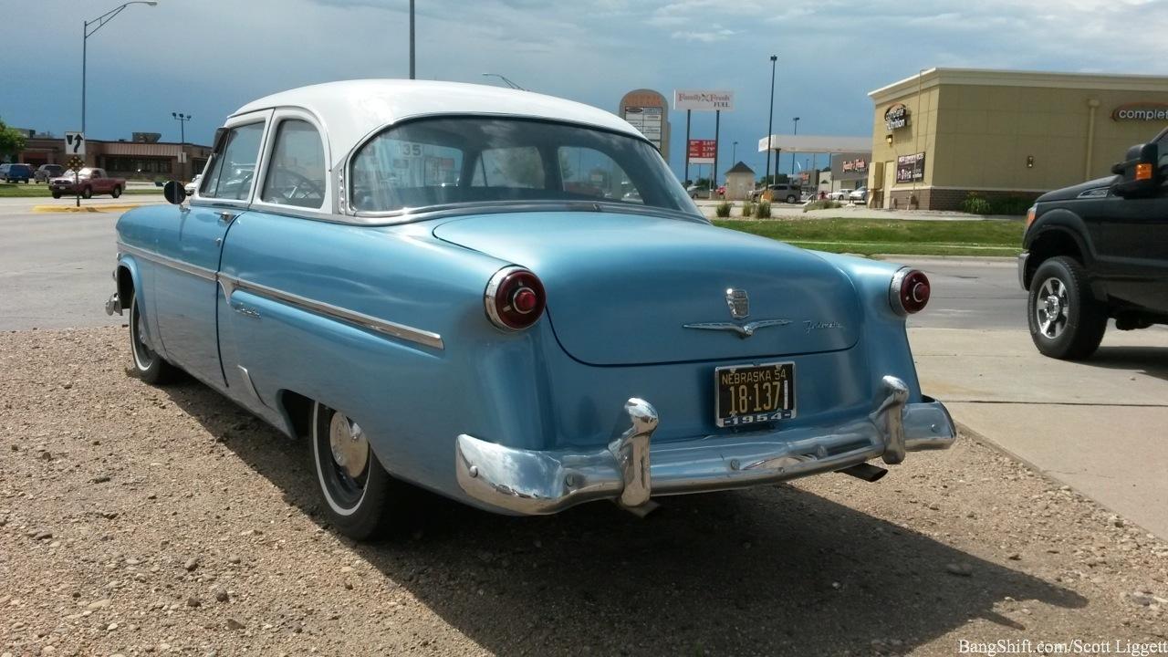 BangShiftcom Roadside Find A 1954 Ford Customline Thats Barely