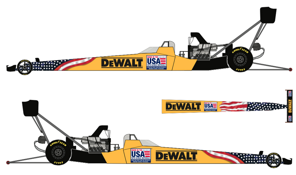 DeWALT Highlights 'Made In USA' With Kalitta Motorsports