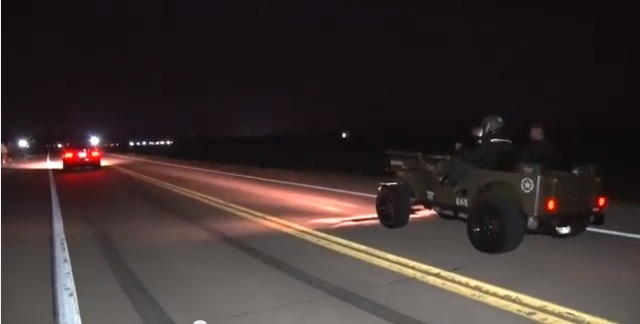 It's A Race And A Comedy Show When The LSX Willys Takes On This Terminator Mustang