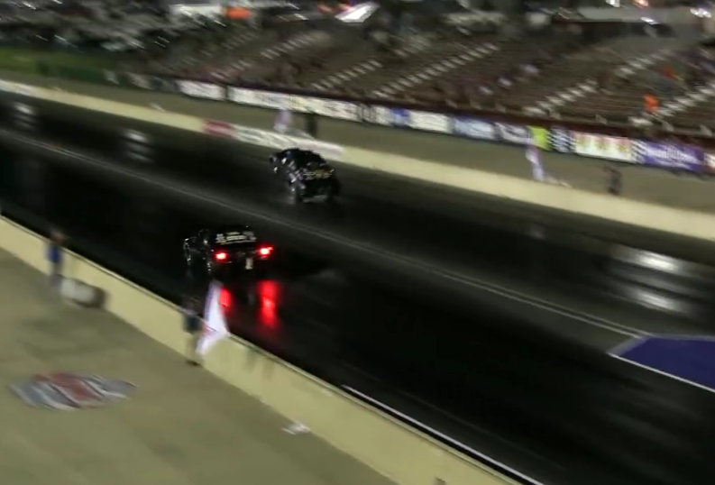 Watch Frank Mewshaw's Crazed Double Wheelstand From The NMCA World Street Finals – Human Highlight Reel