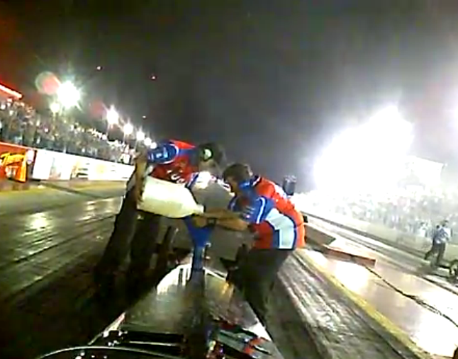 The Greatest Top Fuel Burnout Ever? Watch The Laganas Rip One So Long That They Have To Refuel BEFORE The Run!