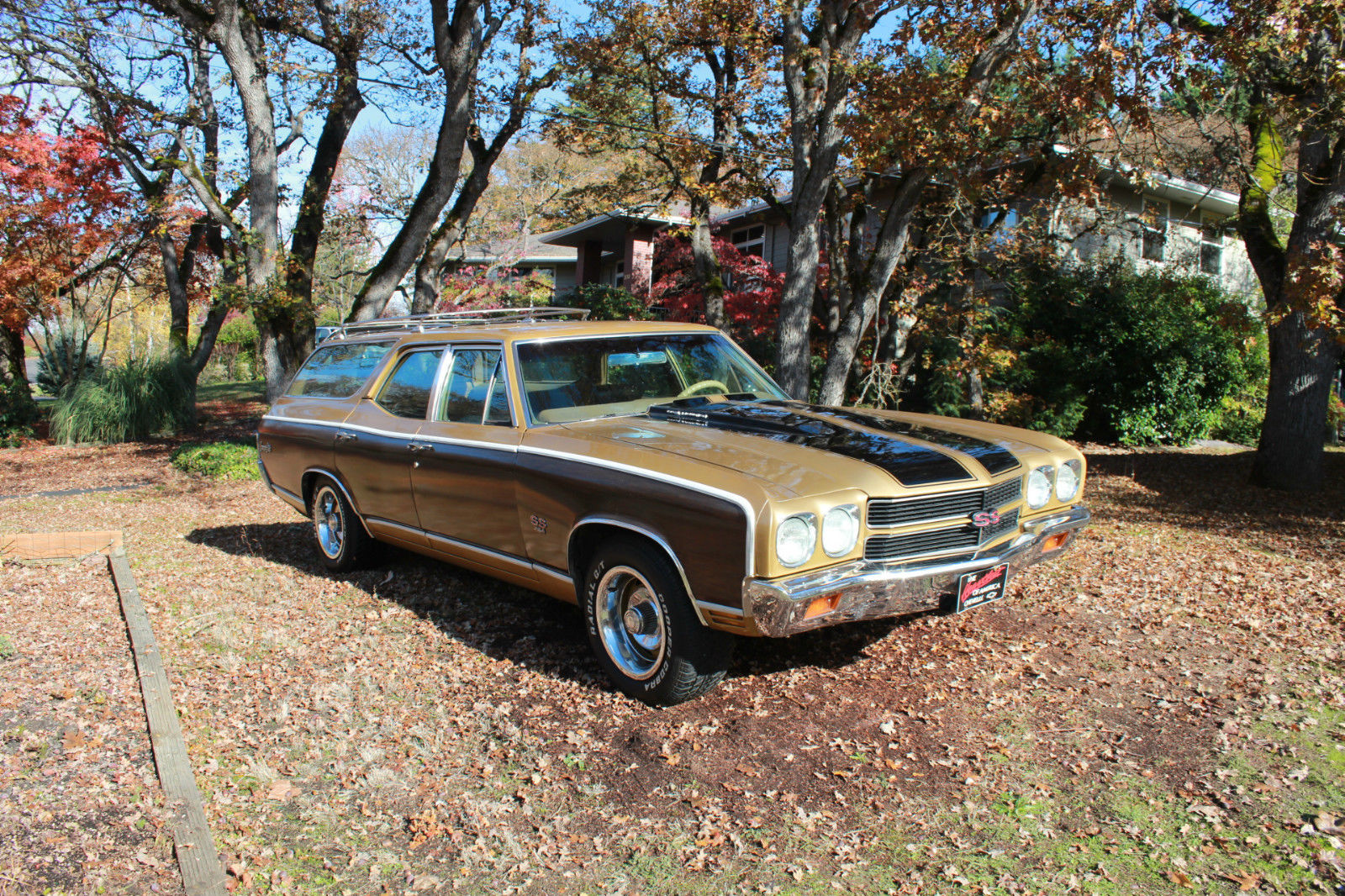 This 1970 Chevelle Concours Wagon Has Factory Big Block Power, Woodgrain, and A Minto Interior!