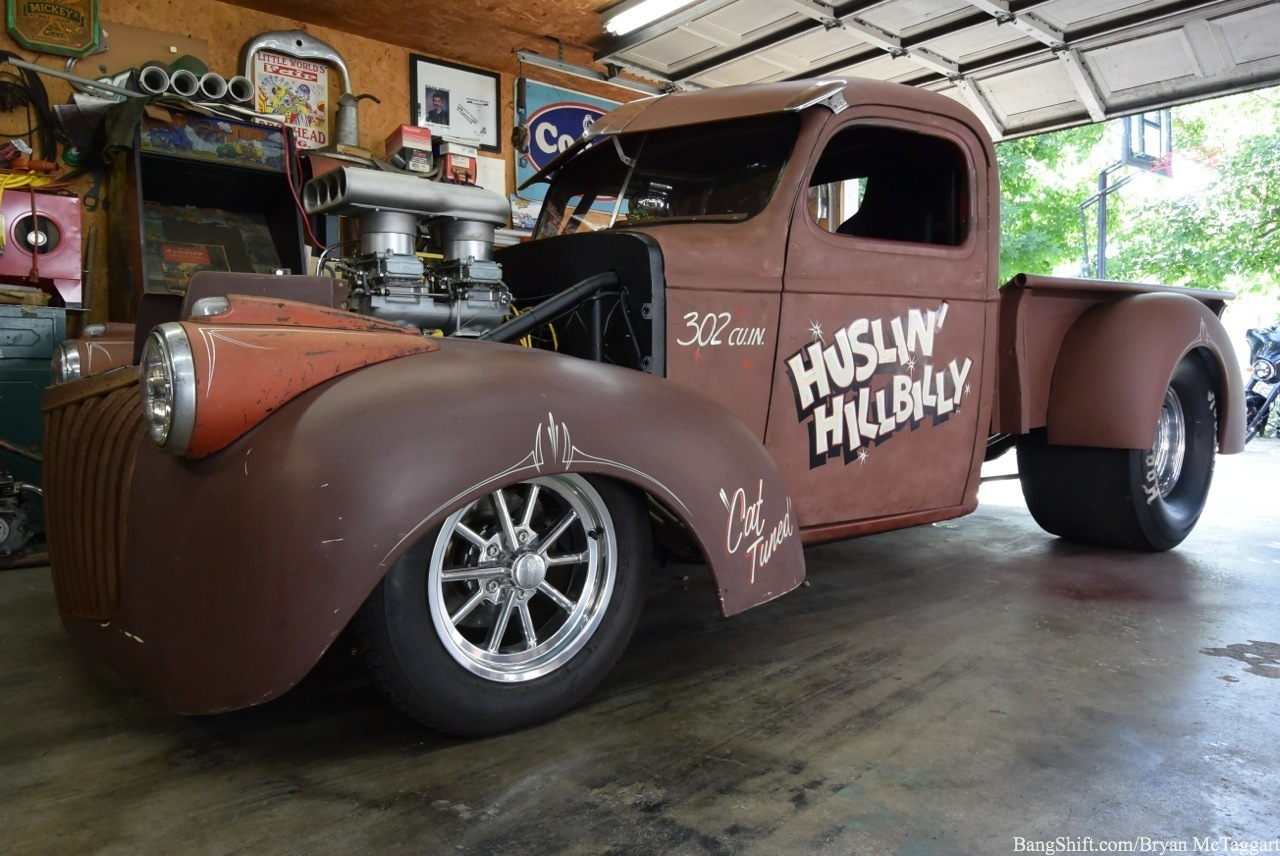 Short Street Rod Shop Tour The Hustlin Hillbilly 1955 Ford F100 Masters32