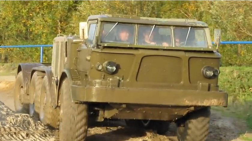Watch This Unstoppable Eight Wheel Drive Russian ZiL-135 Dominate An Off Road Obstacle Course