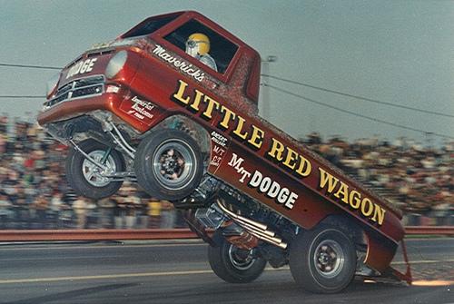 "In Memoriam: Bill ""Maverick"" Golden, Driver Of The Little Red Wagon Wheelstander, Has Passed Away"