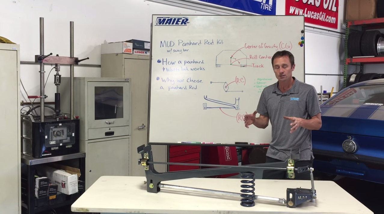 Mike Maier Explains How A Panhard Bar Works VS A Watts Link, Roll Center, Gravity, And More.
