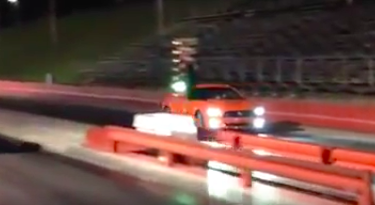 Watch A 2015 Mustang Race A VW Jetta Down The Strip…In Reverse!