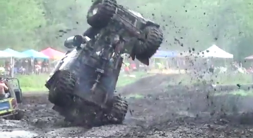 Watch The Sneaky Pete Peterbilt Mud Bog Truck Wreck Hard In Michigan