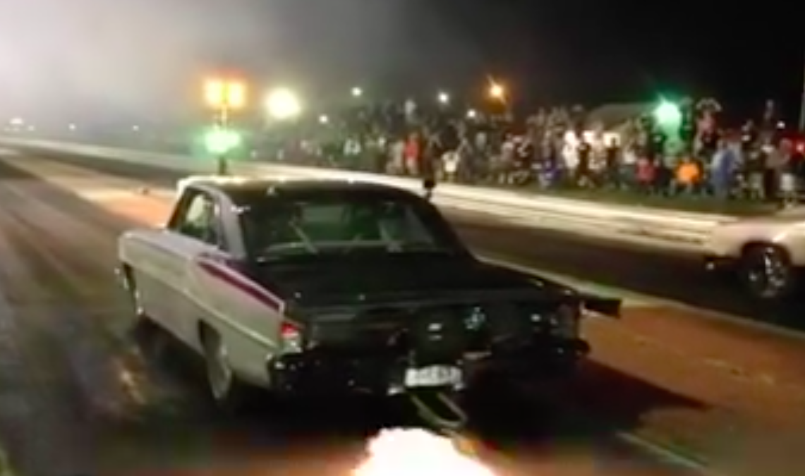 """Watch Larry Larson Eat Up """"The Cutty"""" From Street Outlaws At US 36 Dragway In His Nova"""
