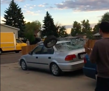 Three Airbags, One Wheel, One Civic, And A Lot Of Unused Brain Cells Resulted In This Video