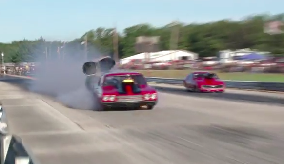 Twin Blow Outs At 150mph? No Big Deal For The Driver Of This Chevelle