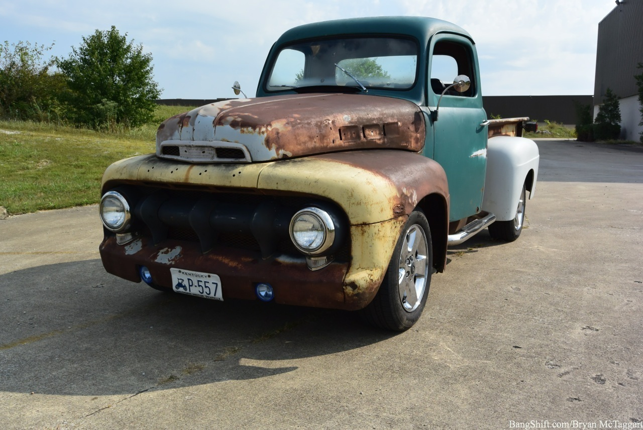 this 1951 ford truck might look like a budget beater but with a tunnel rammed 5 4. Black Bedroom Furniture Sets. Home Design Ideas