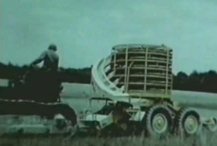 Scary Machine: Old Video of International Harvester's Automatic Mine Layer