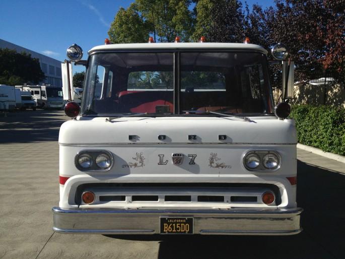 Ford C-800 Fire Truck Ramp Truck Car Hauler 6