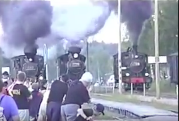 This Three Wide Locomotive Drag Race From Finland Is Way Cooler Than You Are Expecting