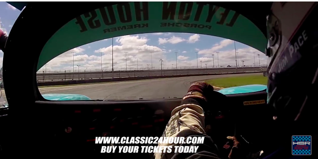 In-Car Video: Make Two Full Speed Laps Of The Daytona Road Course In A Porsche 962 With Jim Pace