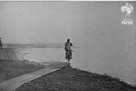 Wild Video: Watch A Guy Attempt The First Motorcycle Parachute Jump In 1926 – Fails and Lives