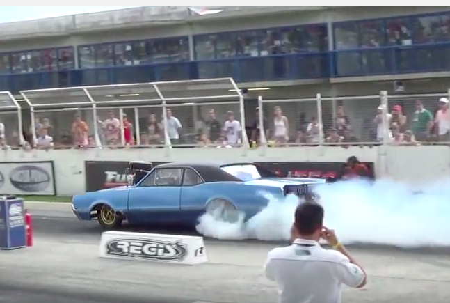 Watch This Blown Hemi Powered Olds In Brazil Try To Make A Run As Rain Starts To Fall