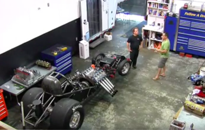 Watch 100% Blind Alcohol Funny Car Crew Chief Jay Blake Prepare And Pull An Engine Alone