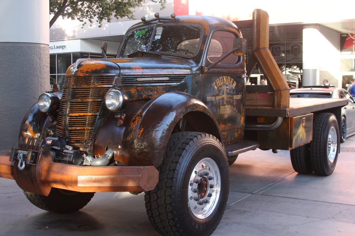 The Welderup International KB Ditch Digger Truck Was A Big Brown Hit At SEMA 2015