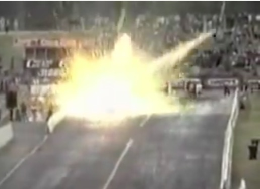 This Is What It Looks Like When A Top Fuel Dragster Clutch Explodes – Nightmare!