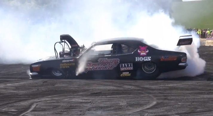 Mother Of All Australian Burnouts: This 8,000 Horsepower Holden Monaro Enters The Ring!